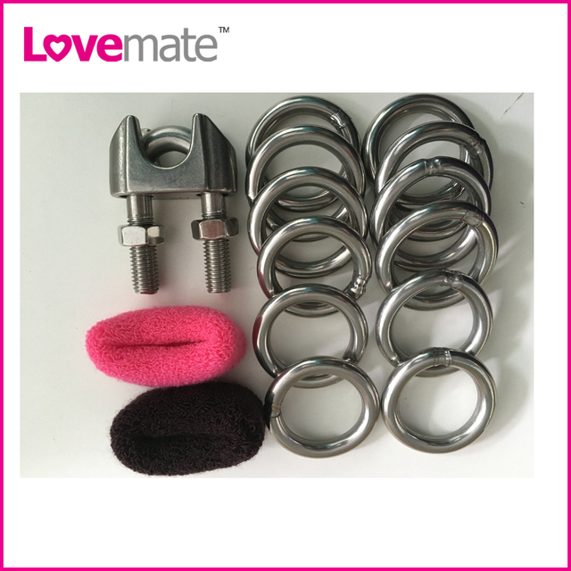 304 stainless steel cock ring metal pro extender physical penis enlargement round hoop