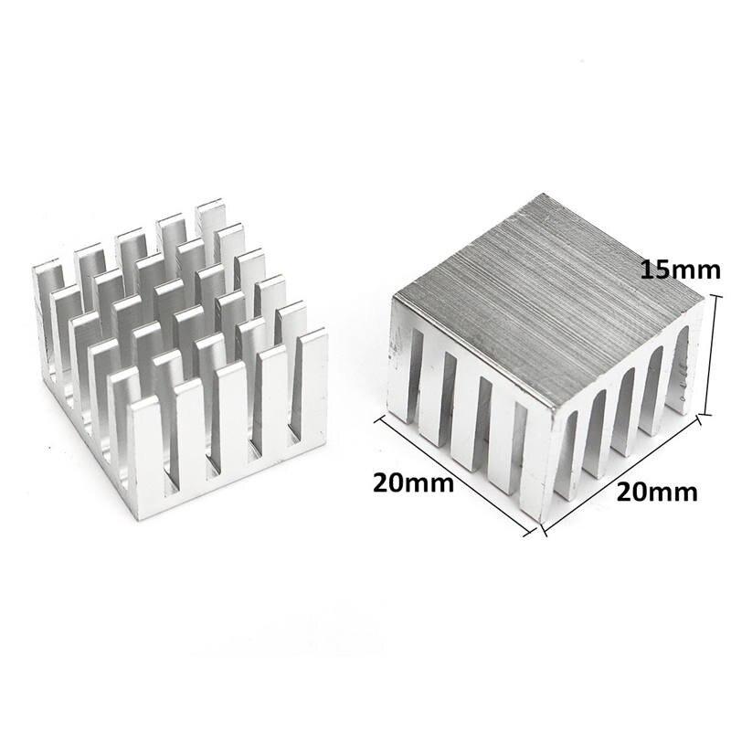 5 шт./компл. системный блок ИК-Чип алюминиевый радиатор экструдированный кулер радиатор 20x20x15 мм DIY новейший горячий Новое поступление радиаторы
