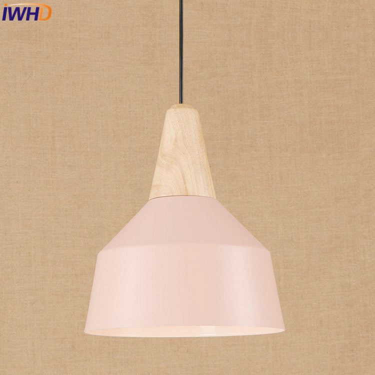IWHD Iron Nordic Pink LED Pendant Lights Vintage Industrial Loft Pendant Lamp Retro Hanglamp Fixtures Home Lighting Luminaire nordic retro pendant lights fixtures lampara vintage industrial lighting spider pendant lamp loft antique fixtures luminaire