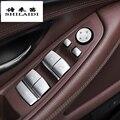 Автомобильный Стайлинг двери подлокотник панель обложки наклейки для BMW 5 6 серии F10 F18 F07 5gt окна стекло подъемные кнопки авто аксессуары
