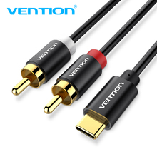 Vention USB C RCA Audio Cable Type-C to 2 RCA Cable 2rca Jack Type C RCA Cable for iPhone Sumsung Xiaomi Speaker Home Theater TV