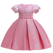 Детская одежда с короткими рукавами; сетчатые платья с вышивкой и цветочным узором для девочек; элегантная одежда для первого причастия; костюм принцессы с юбкой-пачкой для малышей
