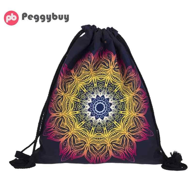 3D Printing Backpack Colorful Cloth Bag Drawstring Bags Teenagers School  Backpacks Mochila Stereo Softback Unisex Travel