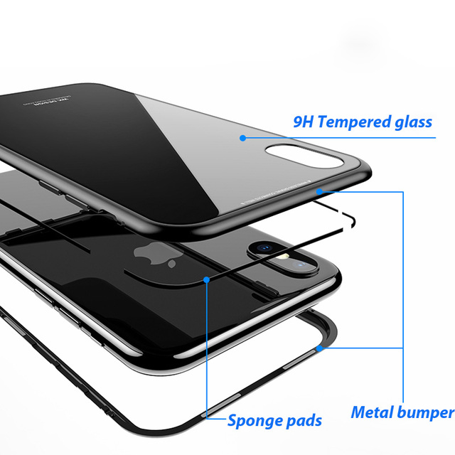 Magnetic Case for IPhone X, 8 PLUS, 7 PLUS