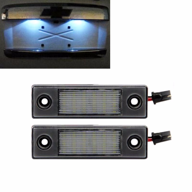 HOPSTYLING 2x LED Bulb For Chevrolet Cruze 2009~ SMD license plate Lights car-stying Auto accessories Bulb replacement parts