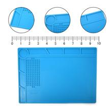 35x25cm ESD High Temperature Resistant Silicone Antistatic Mat Rubber Gasket Of Mobile Computer Repair Insulation Pad