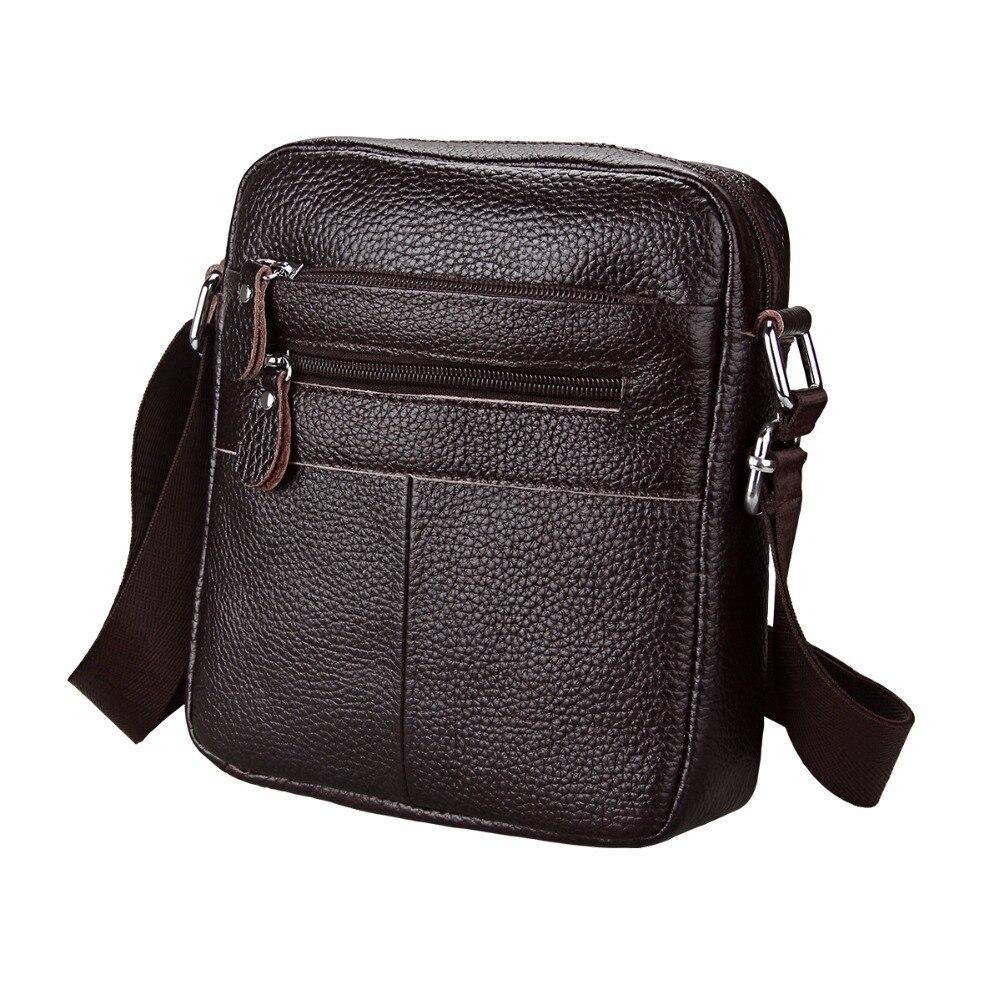 Etaofun Brand Cow Genuine Leather Messenger Bags Men Travel Shoulder Bag Cowhide flap bag Vintage Crossbody Bags For Mens bolsas