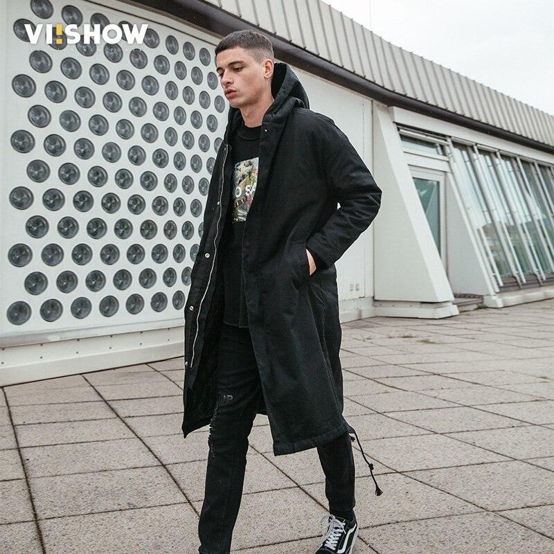 VIISHOW мужская зимняя куртка брендовая мужская парка с капюшоном зимняя мужская куртка 2018 Толстая хлопковая стеганая зимняя куртка для мужчи...