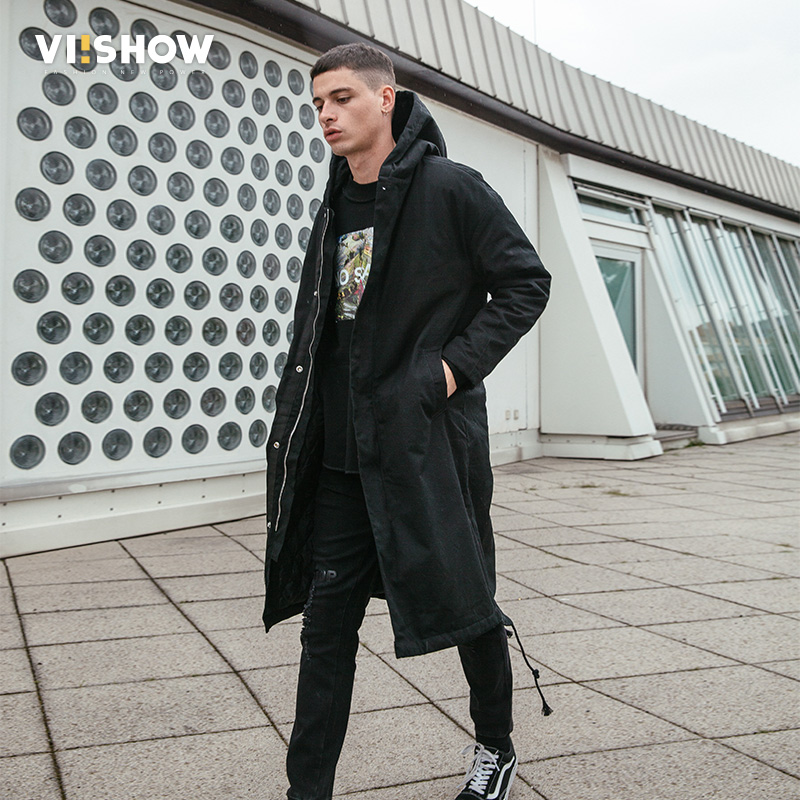 VIISHOW High Quality Parka Men Winter Long Jacket Men Thick Cotton-Padded Jacket Mens Parka Coat Male Fashion Casual Coats XXXL winter jacket men warm coat mens casual hooded cotton jackets brand new handsome outwear padded parka plus size xxxl y1105 142f
