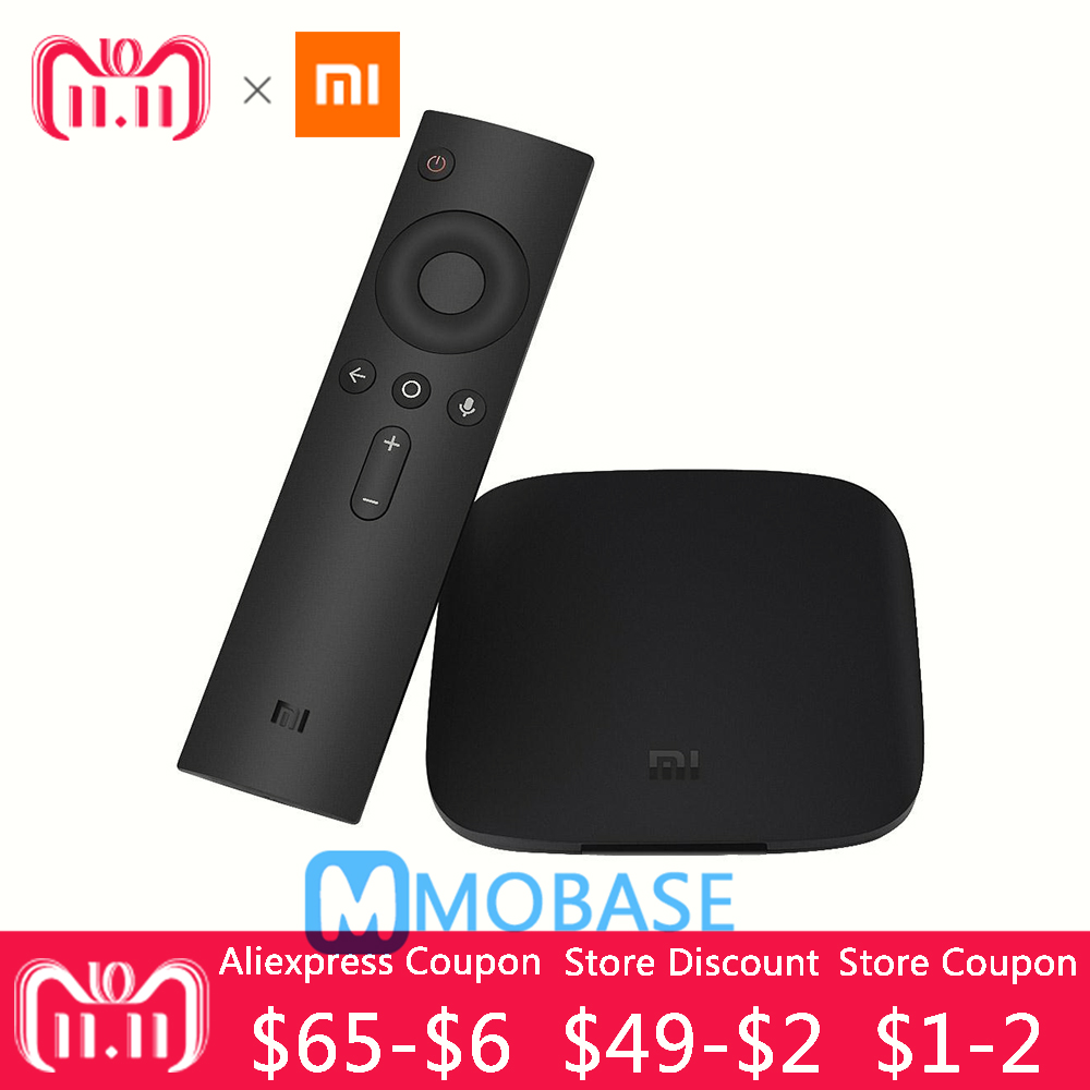 [100% Original ] Xiaomi Mi Box 3 Android 6.0 TV Box 2G/8G Dual WiFi Smart TV IPTV Media Player Set Top Box Plenty of Stock original xiaomi mi tv box 3 smart 4k quad core hd 2g 8g android 6 0 wifi google cast netflix red bull media player set top box
