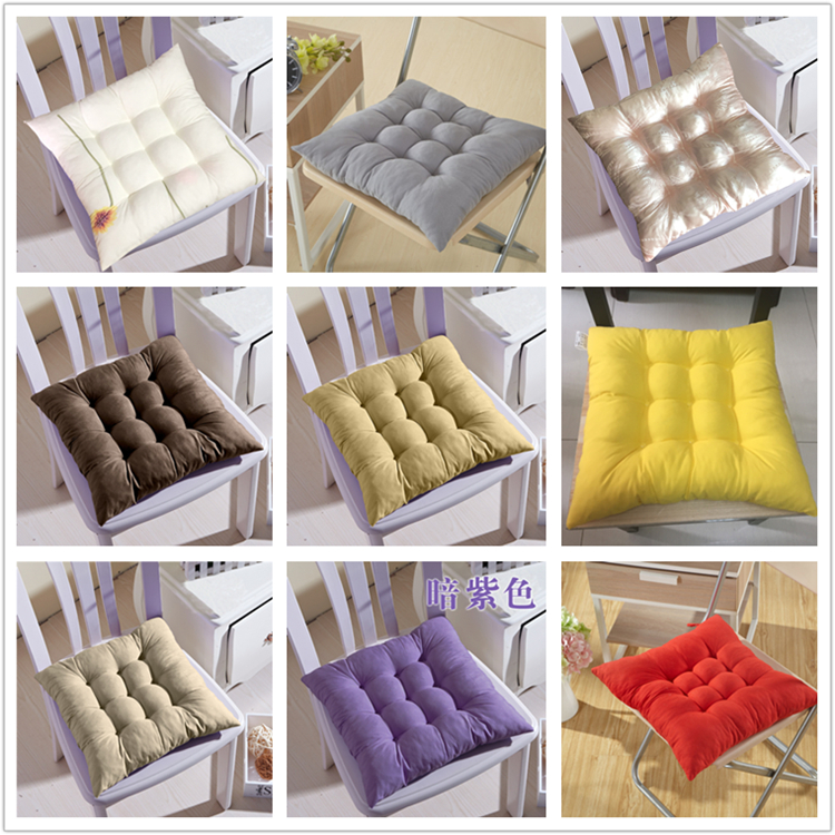 Winter Warm Chair Back Seat Cushion Mat Solid Color Office Seat Buttocks Pad 38*38cm Sofa Waist Pillow Cushion For Home Decor
