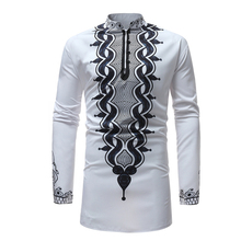 Men T-shirt Africa Clothing Rich Bazin Dashiki Printing African Dresses For Man Traditional Long Sleeve Shirt Clothes Robes