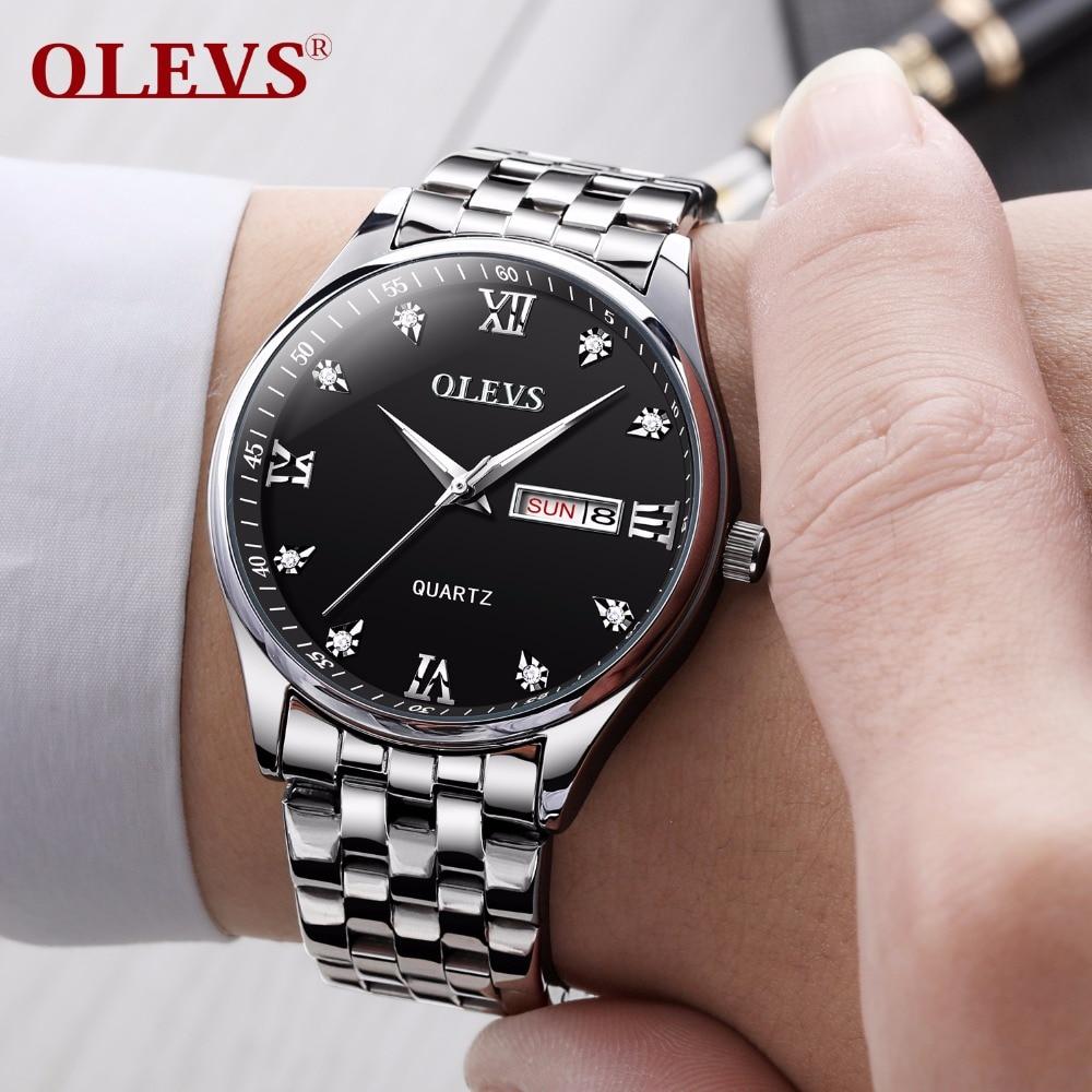 גברים שעונים 2018 יוקרה מותג OLEVS Mens Wrist - שעונים גברים