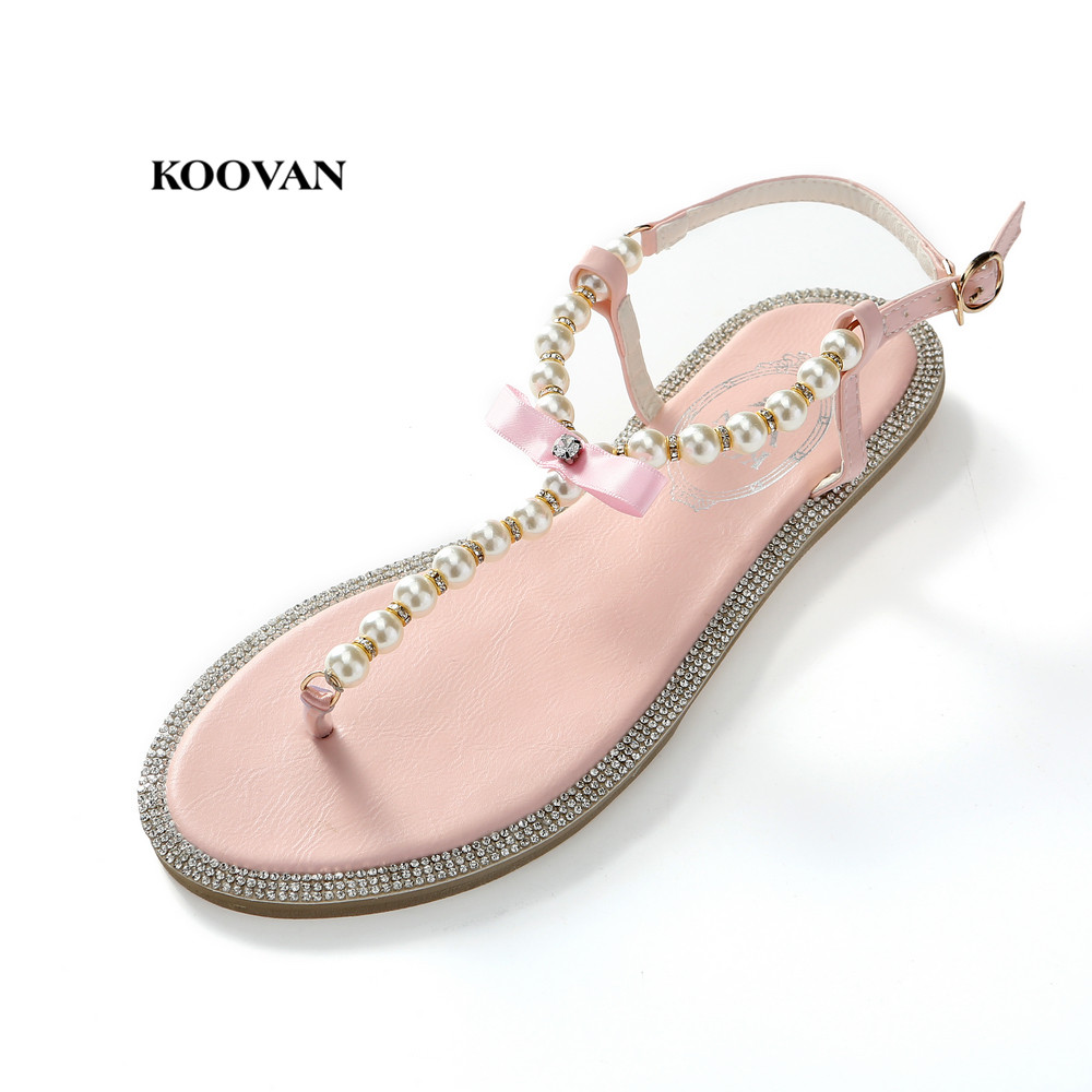 a22b11cd Sandalias de mujer Koovan 2018 zapatos de moda de verano zapatos de mujer  con lazo diamante