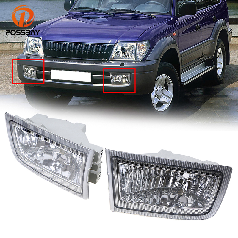 POSSBAY Car Light for Toyota Land Cruiser Prado(J90) Petrol/Diesel Facelift 1999 2000 2001 2002 Front Bumper Fog Light Lamps