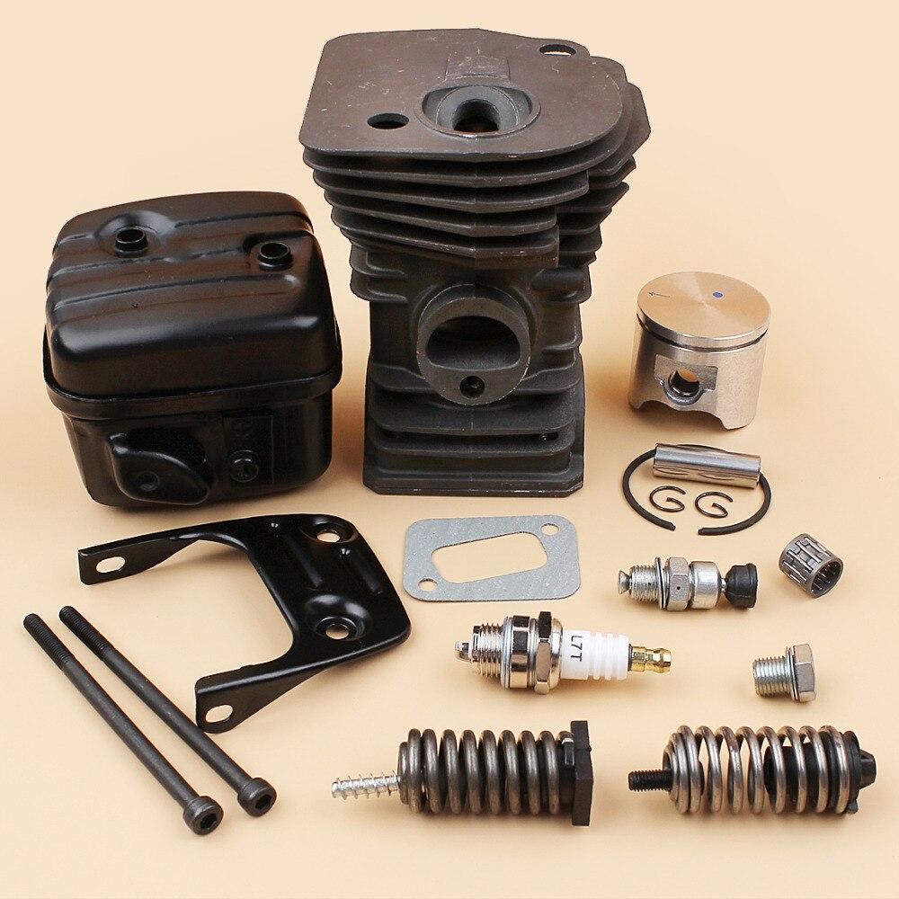 345 42mm Engine Buffer Shock Parts 340 Muffler Chainsaw Head Motor Fit Bracket Husqvarna Kit   Spring Cylinder Piston Bolt
