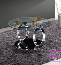 Rotating 360 degrees. Creative stainless steel tea table. The sitting room tea table.