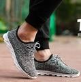 Zapatilla депортиво мужская дышащей летней зашнуровать обувь мужчины повседневная прохладный спорт и открытый ткани мужской обуви плюс размер обувь