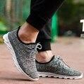 Zapatilla deportive de verão respirável dos homens rendas até sapatos casuais homens esporte legal e pano sapatos ao ar livre masculino plus size sapatos