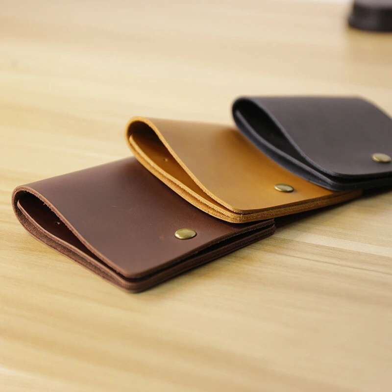 Fashion Famous Brand Genuine Leather Mens Wallets Vintage Hasp Personality Contracted Design Mini Wallet Card Slot For Mans