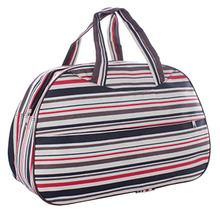 Fashion Waterproof Oxford Women bag Colorful Stripe Travel Bag Large Hand Canvas Luggage Bags