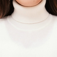 new arrival 100%goat cashmere turtleneck thread knit women fashion solid slim pullover sweater white 3color S 2XL
