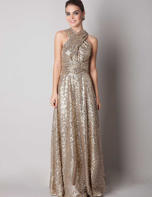 Gold colored dresses for ladies