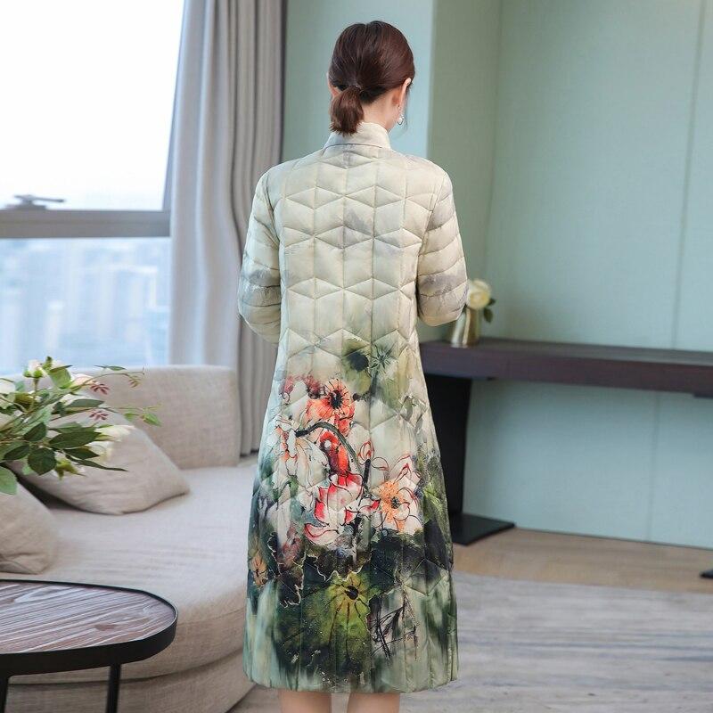 C80502l Mode Vêtements Hots Femelle Veste Parkas cou Zipper Casual Flower 2018 O Mince D'hiver Et Nouvelles Automne De Floral Femmes Lâche wUTYHq