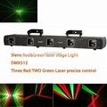 NEW COOL 500mW 5 Lens 3RED 2GREEN line scanner DMX Laser System Show Party DJ moving head Professional Stage Light X8 express