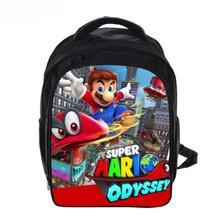 13 Inch Cartoon Super Mario Sonic Kids Backpack Kindergarten School Bag Children Printing Backpack Girls Boys Mochila