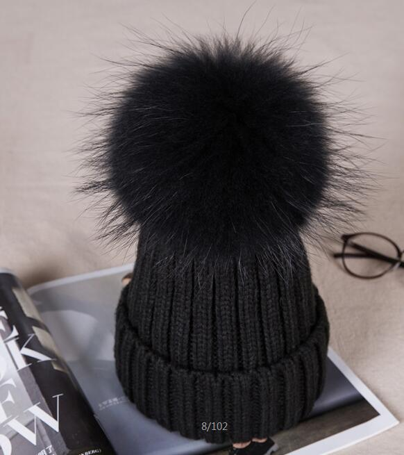 warm winter fun cos baby hat for girls and boys, with real raccoon fur pom pom hat kids new star spring cotton baby hat for 6 months 2 years with fluffy raccoon fox fur pom poms touca kids caps for boys and girls