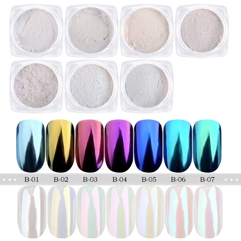2017 1g box New Nail Glitter Chrome Powder Mirror Pigment Dust Shinning Nail Art Decoration