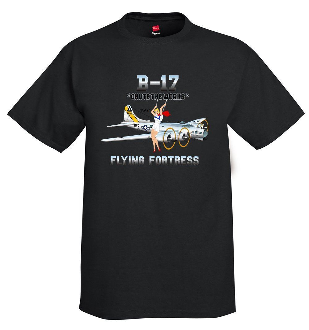 2019 Hot Sale Fashion Boeing B-17 Flying Fortress Airplane T-Shirt Tee Shirt