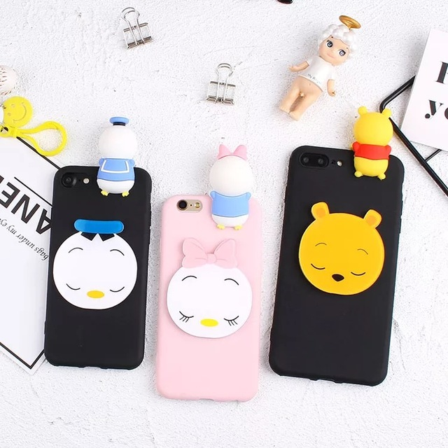 new concept e5142 a9ae0 US $2.85 |Cases For Xiaomi 5X Back Covers For Xiaomi Mi A1 3D Dolls Mickey  Minnie Pooh Soft TPU Case For Xiao A1 Fundas Capas For Redmi 5A-in Fitted  ...