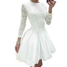 2018 New Spring Women Lace font b Dress b font font b Vintage b font O