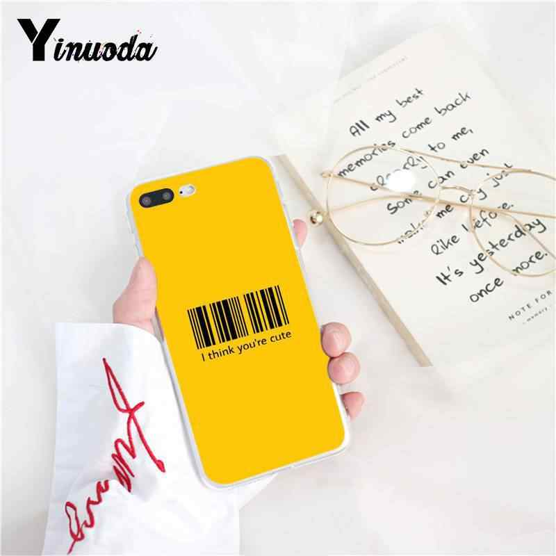 Yinuoda Vàng Thẩm Mỹ Mềm Silicone TPU Vỏ Điện Thoại cho iPhone 8 7 6 6 S 6 Cộng Với 5 5 S SE XR X XS MAX 10 Coque Vỏ
