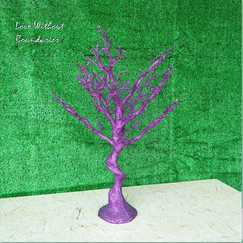 Simulation, white Christmas tree, Stem branch, Trunk, Environmental protection resin, 8 colors can choose - 3