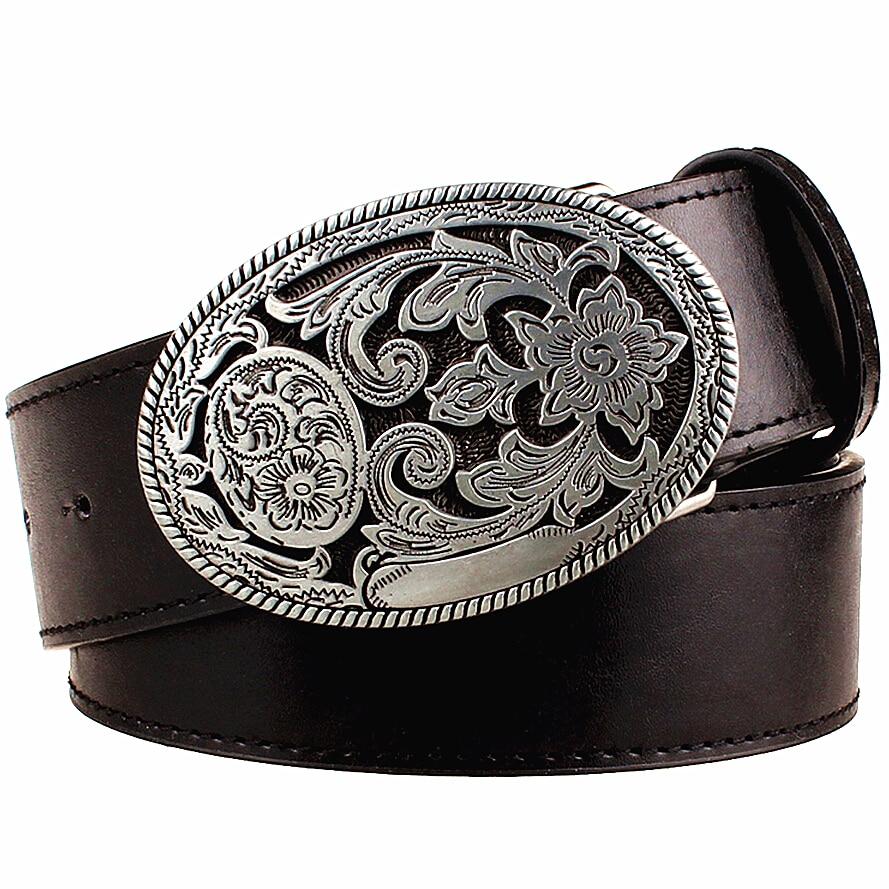 Cinturón retro para mujer hebilla de metal tejido Arabesque patrón cinturones de cuero jeans tendencia punk rock correa decoración cinturón regalo para las mujeres
