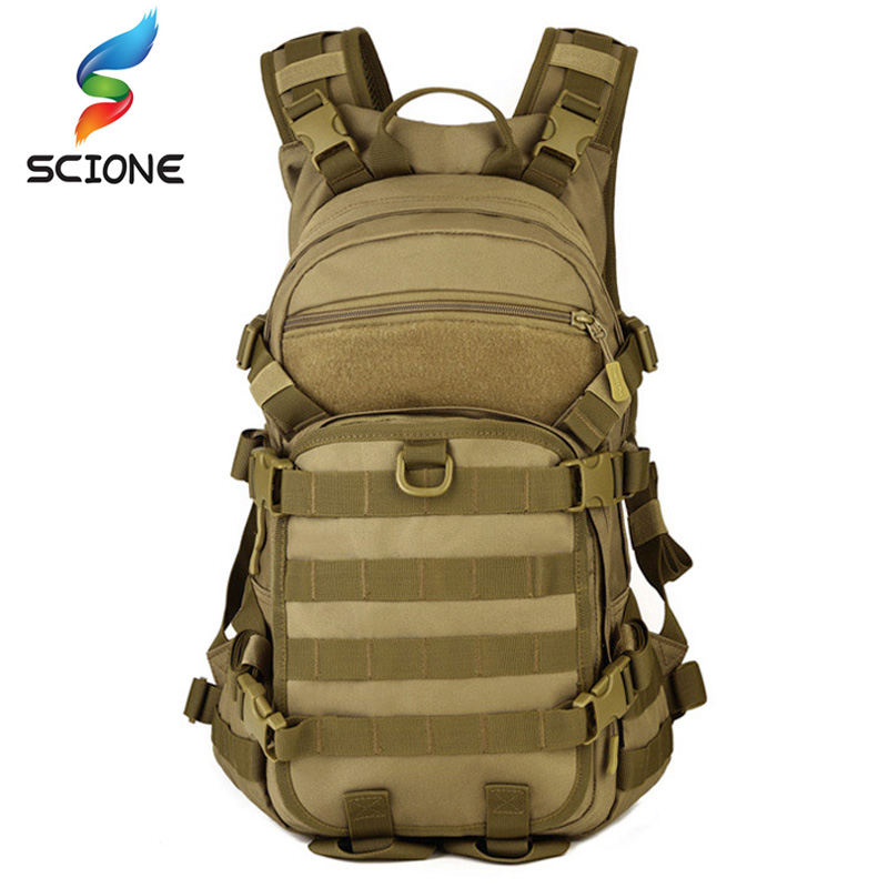 Waterproof Outdoor Military Molle Tactical Backpack Trekking Sport Travel 25L Nylon For Camping Hiking Trekking Camouflage