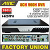 2015 New BEST DVR 8CH 960H Full D1 DVR Recorder H 264 Network 8 Channel CCTV
