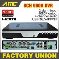 2015 New BEST DVR 8CH 960H Full D1 DVR Recorder H 264 Network 8 Channel CCTV