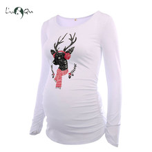 ugly christmas reindeer maternity tops belly ornament mama clothes flattering side pregnancy blouse funny long sleeve