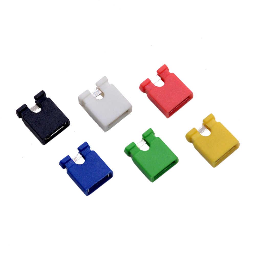 10 sztuk sześć kolor biały/czarny/czerwony/żółty/zielony/niebieski 2.54mm Jumper Cap nagłówek pin bocznik zwarcie obwodu Open Top