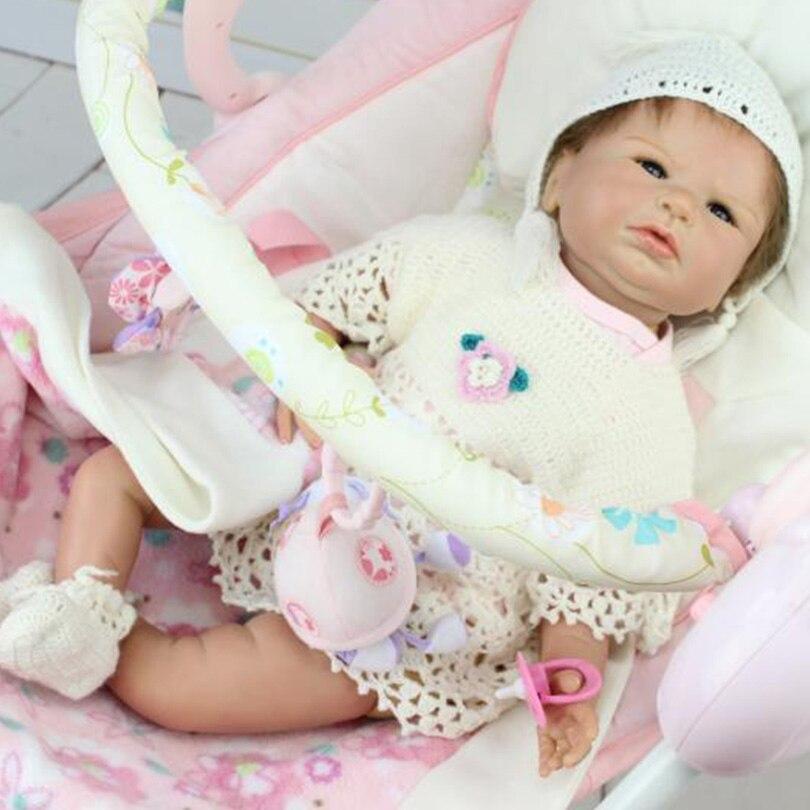 Silicone bébé poupées haute qualité jouets pour bébés cadeaux d'anniversaire poupée 50 cm Reborn bébé poupées princesse jouets pour bébé filles