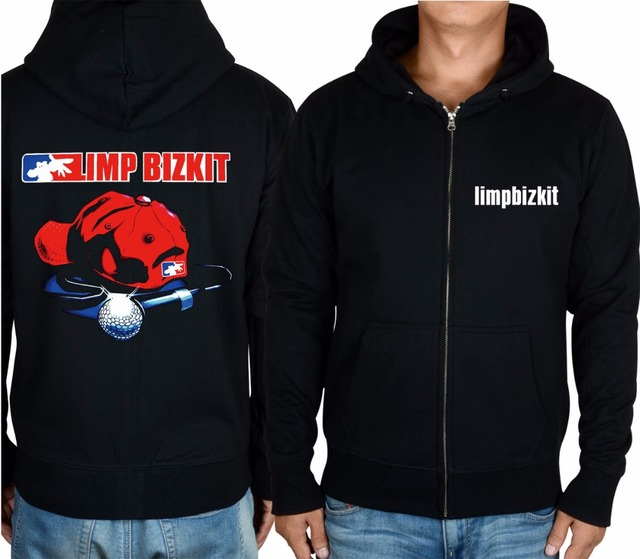 9 kinds winter shell warm jacket Limp Bizkit Rock hoodies punk death Black  metal Zipper sweatshirt Outerwear sudadera microphone 9a45b2784be4