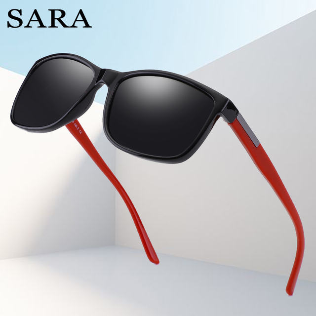 bb3f36d7e00 SARA Fashion Square Polaroid Sunglasses Men Brand Designer Mirror  Photochromic Male Sun Glasses For Men Women
