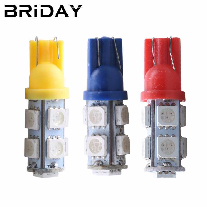 1pc T10 5050 9smd clearance light 12V Wedge Car light reading led dome Lamp license plate light Auto parking bulbs car styling 2pcs t10 5050 smd 13 led car light 110lm auto led license plate light bulb lamp