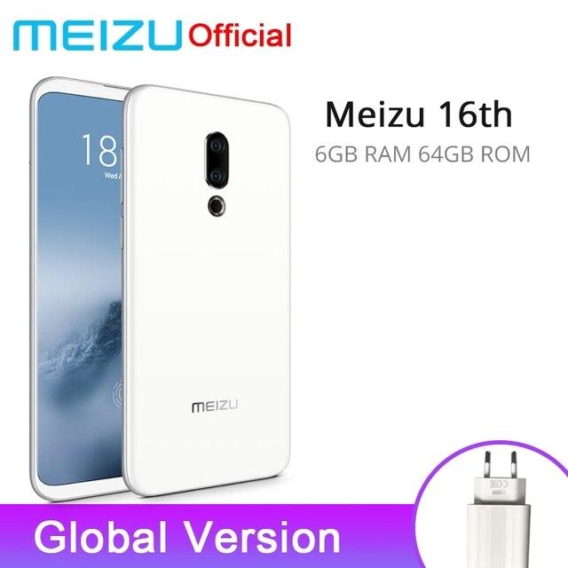 Global Version Meizu 16th 6GB RAM 64GB ROM Snapdragon 845 Octa Core 6.0 inch FHD 2160x1080P Dual Rear Camera Flyme 7 OS