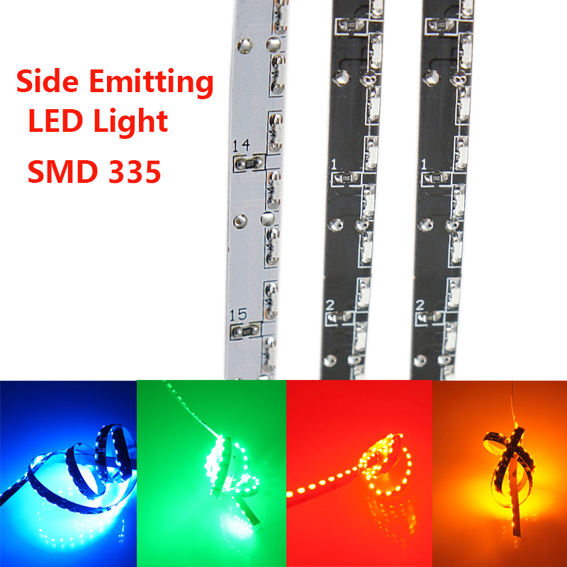 Side Emitting LED Light Strips жарық диодты жарықдиодты жарықдиодты жарықдиодты 120LED / Meter SMD LED 335