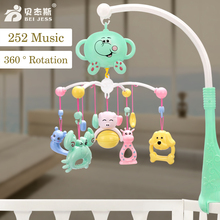 BEI JESS Baby Animal Crib Bell Rattle 252 Musical Lathe hanging Mobile Bed Bell Rotate Stent 0-12 Months Newborn Toy Gifts